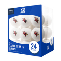 Saginaw Valley State University Cardinals 24 Count Table Tennis Balls Logo Design