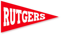 Rutgers Scarlet Knights Mini Logo Pennant Magnet from Collegiate Pacific