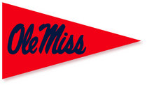 Ole Miss Mini Logo Pennant Magnet from Collegiate Pacific