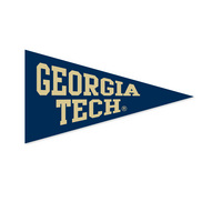 Georgia Tech Mini Logo Pennant Magnet from Collegiate Pacific
