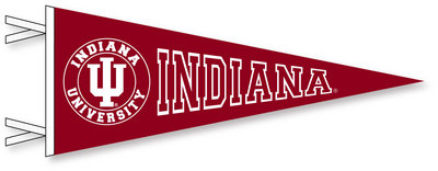 Indiana Hoosiers Pennant from Collegiate Pacific