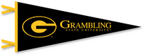 6 x 15 pennant with flocked Grambling State University logo. Lets go GSU!