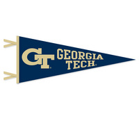 6 x 15 pennant with flocked Georgia Institute of Technology logo. Lets go GA Tech! Click photo for other possible graphic options.