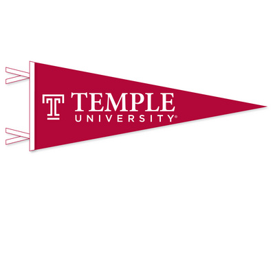 Temple Pennant from Collegiate Pacific