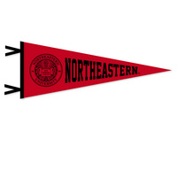 """9"""" x 24"""" pennant with flocked Northeastern University. Show your Northeastern pride. Click photo for other possible graphic options."""
