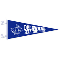9 x 24 pennant with flocked Delaware Logo. Show your UD pride.