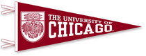 """9"""" x 24"""" pennant with flocked University of Chicago . Show your Chicago pride. Click photo for other possible graphic options. Click photo to view other possible graphic options."""