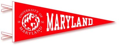 University of Maryland Logo Pennant from Collegiate Pacific