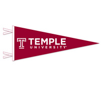 Temple Logo Pennant from Collegiate Pacific