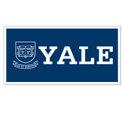 Yale Bulldogs Horizontal Logo Banner from Collegiate Pacific