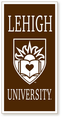 Lehigh Vertical Logo Banner from Collegiate Pacific