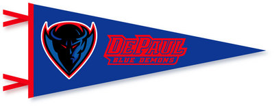 DePaul Multi Color Logo Pennant from Collegiate Pacific