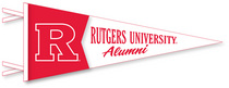 Rutgers Scarlet Knights Multi Color Logo Pennant from Collegiate Pacific