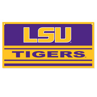 LSU Tigers Horizontal Multi Color Logo Banner from Collegiate Pacific