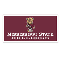 Mississippi State Bulldogs Horizontal Multi Color Logo Banner from Collegiate Pacific