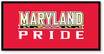 University of Maryland Horizontal Multi Color Logo Banner from Collegiate Pacific