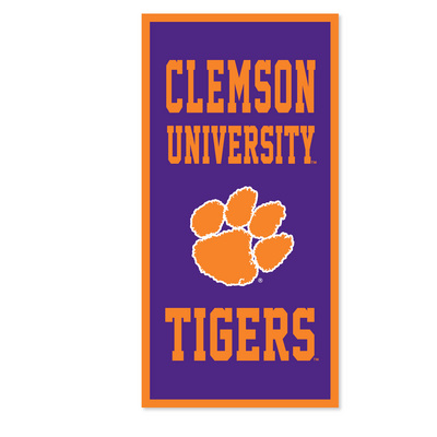 Clemson Tigers Vertical Multi Color Logo Banner from Collegiate Pacific