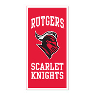 Rutgers Scarlet Knights Vertical Multi Color Logo Banner from Collegiate Pacific