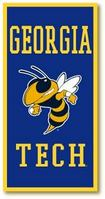 Georgia Tech Vertical Multi Color Logo Banner from Collegiate Pacific
