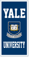 Yale Bulldogs Vertical Multi Color Logo Banner from Collegiate Pacific