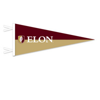 12x30 Split 2 Piece Multi Color Felt Pennant