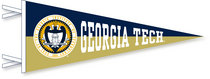 Georgia Tech Multi Color Logo Pennant from Collegiate Pacific
