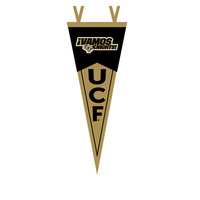 "7"" x 18"" pennant with University of Central Florida logo. Essential Central Florida Knights pride! Click photo to view other possible graphic options."