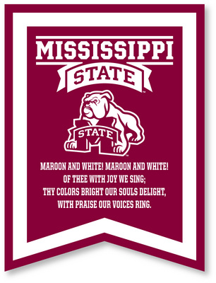 Mississippi State Bulldogs Banner from Collegiate Pacific