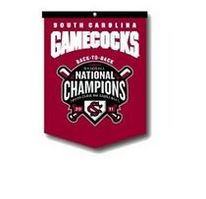 South Carolina Gamecocks 2011 Baseball World Series Champions Rafter Banner