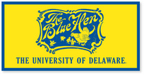Delaware Blue Hens Horizontal Logo Banner from Collegiate Pacific