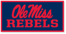 Ole Miss Horizontal Logo Banner from Collegiate Pacific