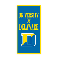 Delaware Blue Hens Vertical Multi Color Logo Banner from Collegiate Pacific