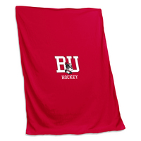 Boston University Hockey Sweatshirt Blanket