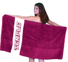 Temple Rugby Stripe Beach Towel