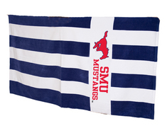 SMU Mustangs Rugby Stripe Beach Towel