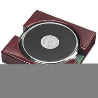 Set of 2 Silver Tone Coasters