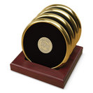 Set of Four Gold Tone Coasters (Online Only)