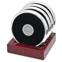 Set of Four Silver Tone Coasters (Online Only)