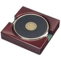 Set of Two Gold Tone Coasters