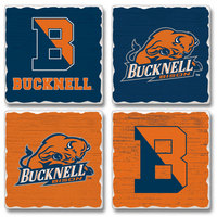 4pk Tumbled Tile Absorbent Coaster