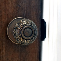 Lehigh University Engraved Door Knob