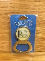 Crystal Coat Round Bottle Opener Magnet