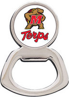 University of Maryland Silver Tone Bottle Opener Magnet
