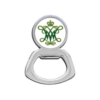 William and Mary Silver Tone Bottle Opener Magnet