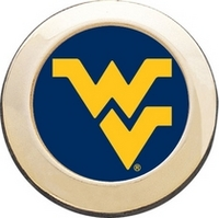 WVU Mountaineers Round Magnet
