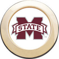 Mississippi State Bulldogs Round Magnet
