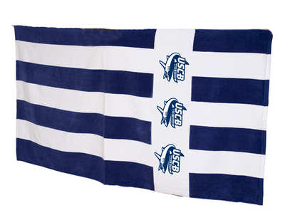 Cabana Rugby Stripe Beach and Bath Towel