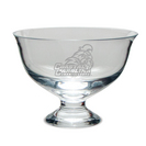 Etched Contemporary Footed Revere Bowl 8.5 x 7H