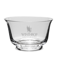 Etched Crystal Revere Bowl 7.5 x 4.75H