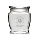 Deep Etched Old Fashion Apothecary Jar with Lid